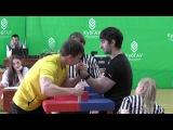 VII зимняя Универсиада армспорту. Александр Логвин - Сослан Кцоев (левая рука) финал 85 кг