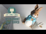 Flower and modelling paste Peter rabbit cake topper tutorial How to make a Peter rabbit cake fondant