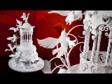 Gazebo &amp Doves Wedding Cake - Sample Video - How to Make Bird Wings with Pastillage
