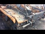Подбитый Т-64 украинской армии, село Нетайлово Донецкой области, детонация боекомплекта