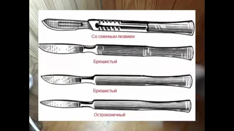 2. Хирургические инструменты 1 Инструменты для разъединения тканей