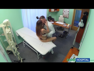 FakeHospital.com: Denisa Bergmanova - Beautiful brunettes wet pussy gets doctors cock on the examining table (2015) HD