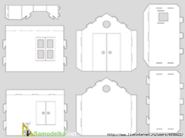 Ideas para el hogar molde para realizar casa de mu ecas for Realizar planos de casas