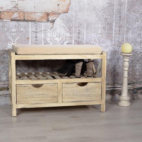 Armario banco estante zapatero c moda 2 cojines de for Banco zapatero madera
