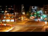 Футаж ночной город