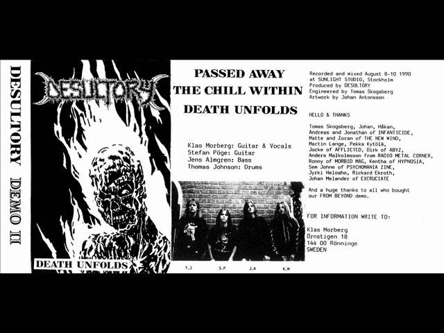 DESULTORY - 1990 Death Unfolds SWEDEN (Demo II FULL) - METALLICOSICK