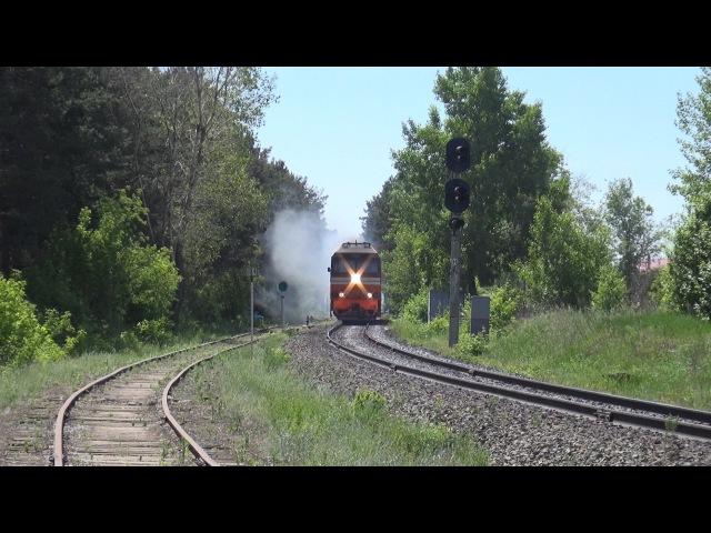 Тепловоз ТЭП70-0566 с пригородным поездом Набережные Челны - Ижевск