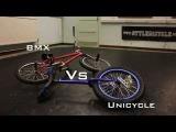 BMX v Unicycle Battle ( Awesome amazing tricks )