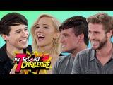 7 SECOND CHALLENGE with Jennifer Lawrence Josh Hutcherson and Liam Hemsworth
