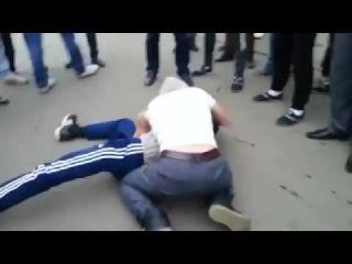 Киргиз выиграл кавказца драка