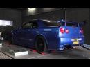 Dyno R34 GTR RB28 @ 1.4b (21 psi)