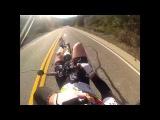 Mulholland Descent on recumbent bike