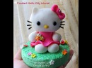DIY How to do fondant Hello Kitty Fondant Kitty tutorial