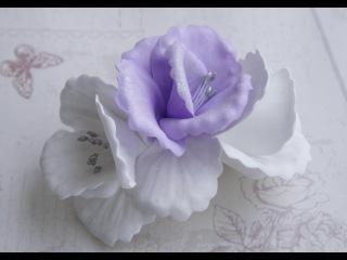 Заколка с цветами из фоамирана. Мастер класс / Foam flower tutorial