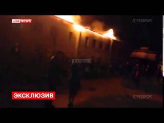 Крупный пожар на территории Иволгинского дацана