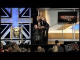 Sacha Baron Cohen - Charlie Chaplin Britannia Award - pushes woman in wheelchair off stage at awards