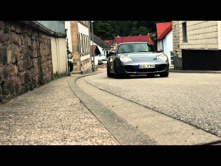 A modified Porsche 996 Turbo on a special