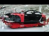 Внутри футуристичной фабрики «Tesla»