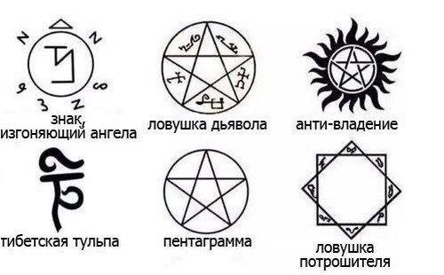 пиктограммы демонов: