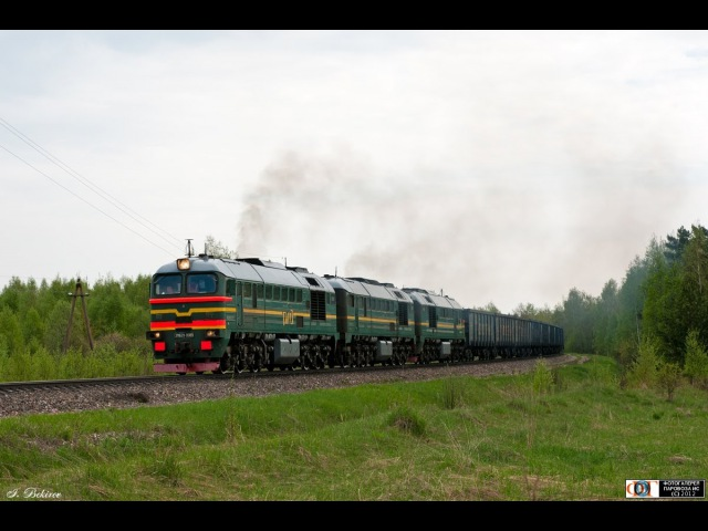 Тепловоз 3М62У (Витебск - Смоленск) 3M62U diesel locomotives (RZD, BCh, Vitebsk - Smolensk line).