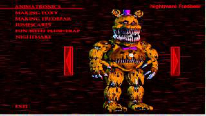 All ANIMATRONICS on Extra Menu - Five Nights at Freddy's 4: The Final Chapter