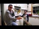Дуэт тромбон и дверца духовки