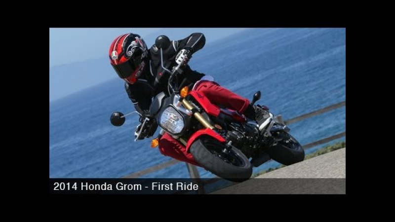 2014 Honda Grom First Ride Grom Prix w/ Justin Barcia - MotoUSA
