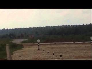 Момент Танкового биатлона, когда один танк утонул, другой перевернулся