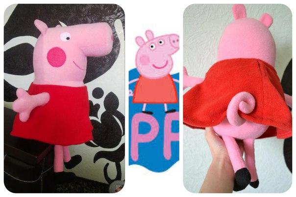 свинка Пеппа из флиса (6 фото) - картинка