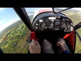 Flying a Tail Dragger - Tip #8 - Grass Strip Approach and Landing - POV flying