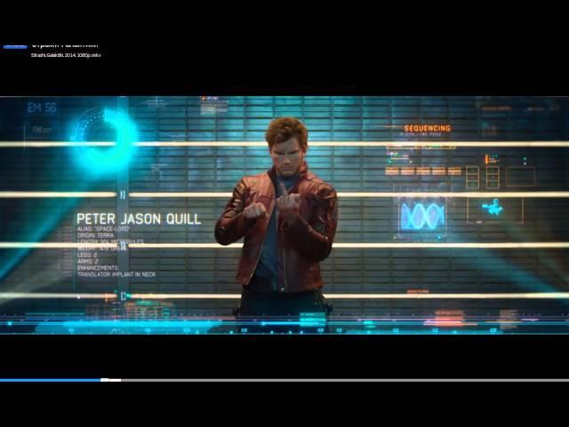 Стражи галактики.Питер Квилл показывает фак.