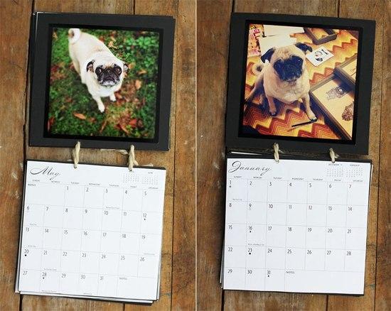 Как сделать календарь в подарок 76