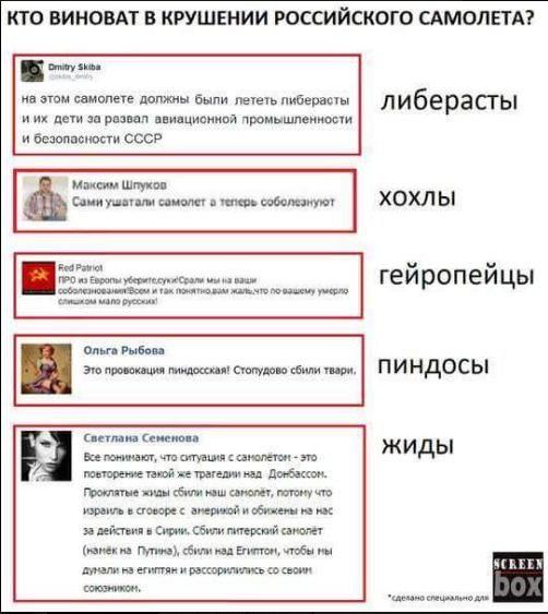 """В """"Когалымавиа"""" считают причиной крушения российского лайнера А321 внешнее воздействие - Цензор.НЕТ 6735"""