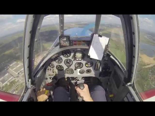 06.09.2014. Yak-52 Training Flight /Тренировочный полет. Отработка элементов Лиги Як-52