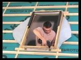 монтаж мансардного окна FAKRO FTP-V