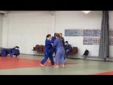 Тренировка дзюдо .Девочки.