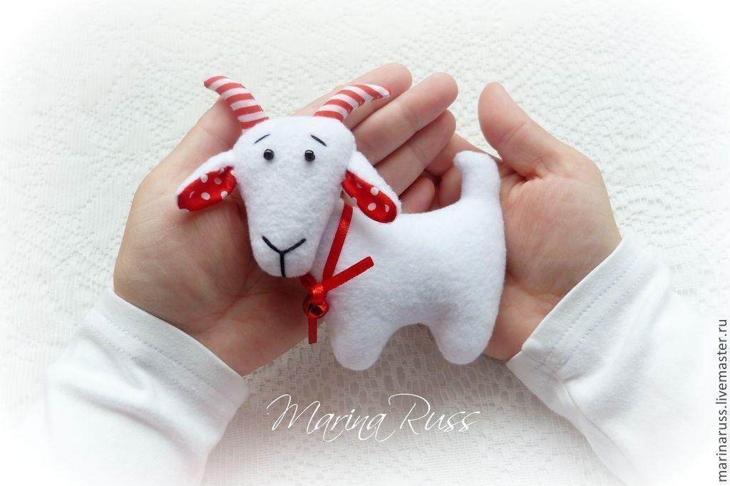 Новогодние игрушки год козы своими руками