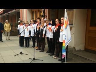 «Парламент» Красносельского района на открытии мемориальной доски в театре «Зазеркалье»