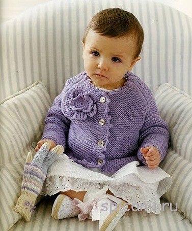 Кофточка для малышки (2 фото) - картинка
