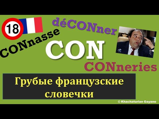 Урок116: Грубые французские слова con, connard ... / Les gros mots francais