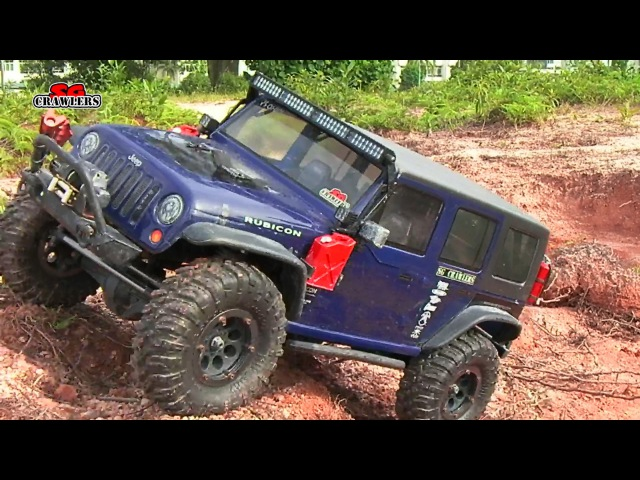 Axial SCX10 Jeep Wrangler Gmade R1 RCModelex Defender 110 RC Offroad Woodgrove Trails