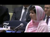 Malala Yousafzai UN Speech Girl Shot in Attack by Taliban Gives Address  The New York Times