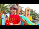 ✿ ВЛОГ Арсения: Детская площадка Самолет - горки, качели, игры