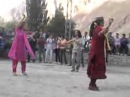 Pamiri Chinese pamiri girl dancing at Gulmit Gojal in a
