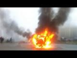 Появилось первое видео с места расстрела автомобиля ОМОНа в Петербурге