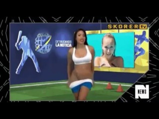 Телеведущая разделась в прямом ЭФИРЕ ! (TV presenter stripped Live!)