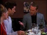 Ross, Elizabeth, Rachel &amp 'Mr. Stevens' having dinner