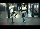 Тайский бокс с чемпионом мира встречаем мидл кик и атакуем бьющую ногу противника