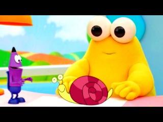 Развивающий мультфильм Каракули. Уроки рисования для детей: Как нарисовать карандашом улитку