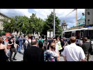 Содомиты пытались провести свой парад в Москве, 30 мая 2015 г.